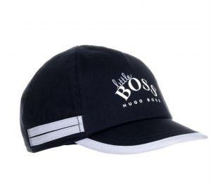 BOSS Kidswear Navy &Pale Blue Logo Baby Cap
