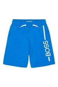 BOSS Kidswear Boys Royal Blue Logo Swim Shorts