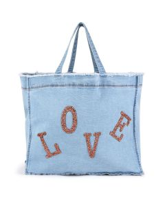 Billieblush Blue Denim Love Bag