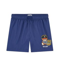 Moschino Kid-Teen Navy Pirate Swim Shorts