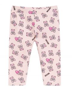Moschino Baby Repeat Toy Print Pink Leggings