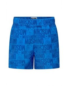 Moschino Older Boys Blue Logo Swim Shorts