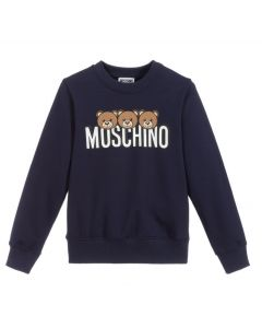 Moschino Kid-Teen Teen Blue Toy Logo Sweateshirt