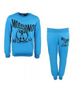 Moschino Kid-Teen Bright Blue Milano Cotton Logo Tracksuit