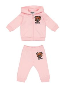 Moschino Baby Embroidered Teddy Pink Tracksuit