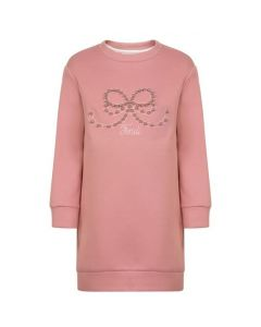 FENDI Girls Pink Gold Logo Sweater Dress