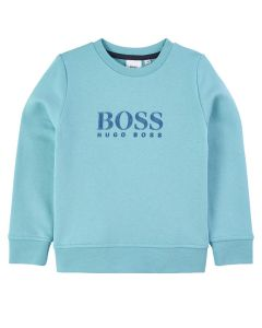BOSS Kidswear Boys Turquoise Sweatshirt