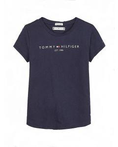 Tommy Hilfiger Teen Girls Blue Logo T-Shirt