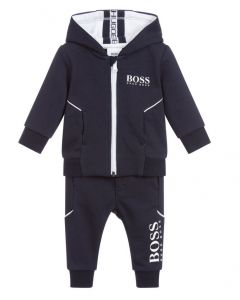 BOSS Kidswear Younger Boy's Blue Cotton Logo Tracksuit