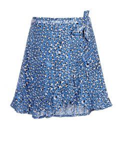 Tommy Hilfiger Teen Blue Leopard Print Skirt