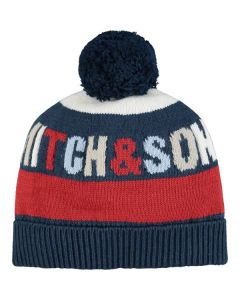 Mitch & Son Blue & Red Knitted Hat