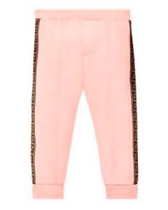 FENDI Baby Girls Rose Pink Cotton Joggers