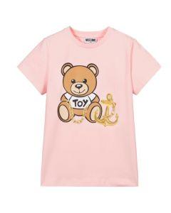 Moschino Kid-Teen Pink Teddy Bear Anchor T-Shirt