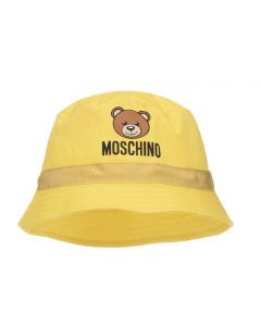 Moschino Baby Yellow Toy Bucket Hat