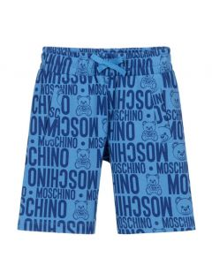 Moschino Kid-Teen Boys Blue Cotton Toy and Logo Shorts