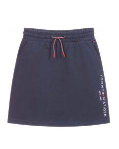 Tommy Hilfiger Navy Blue Organic Cotton Skirt