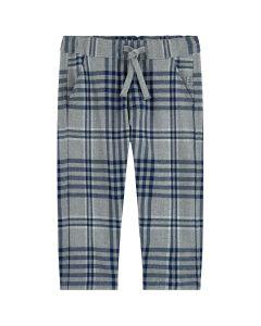 Il Gufo Blue & Grey Check Trousers