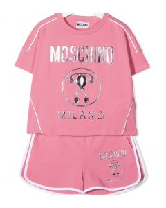 Moschino Kid-Teen Pink & Rose Gold Milano Shorts Set