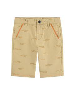 Billybandit Boys Beige Cotton Shorts