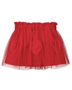 Everything Must Change Baby Girls Red Heart Tulle Skirt