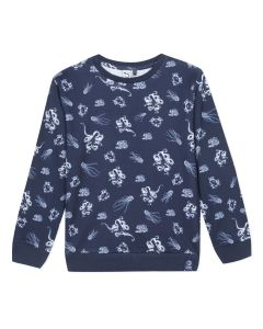 3Pommes Boys Blue Sea Creature Sweatshirt
