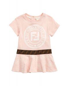 FENDI Baby Girls Pink Logo Dress