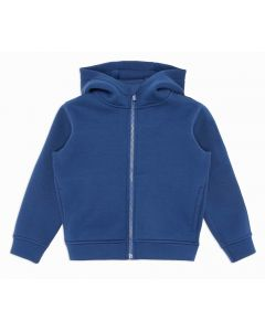Emporio Armani Boys Blue Velvet Logo Neoprene Zip Up Top