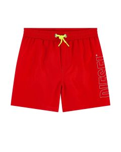 Diesel Red Logo Swim Shorts