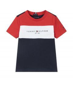Tommy Hilfiger Organic Cotton Logo Colour Block T-Shirt