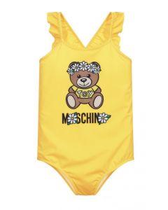 Moschino Kid-Teen Teen Yellow Logo Daisy Swimsuit