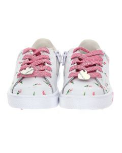 Monnalisa Leather Bugs Bunny Trainers