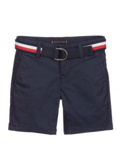 Tommy Hilfiger Boys Navy Blue Chino Shorts