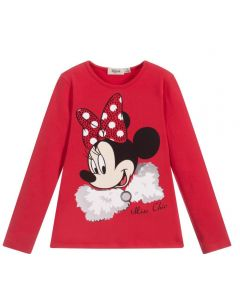 Everything Must Change Red Sparkly Minnie Mouse Top