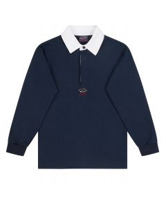 PAUL & SHARK Logo Blue Long Sleeved  Polo T-Shirt