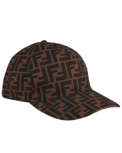 Fendi Brown FF Logo Cap