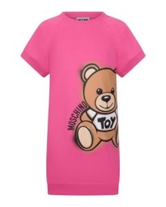 Moschino Kid-Teen Pink Side Toy Logo Dress