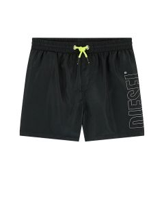 Diesel Black Logo Swim Shorts