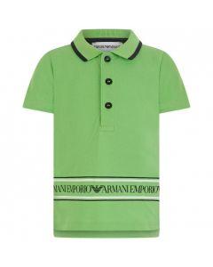 Emporio Armani Boys Neon Green Polo Shirt