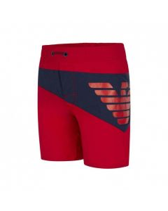 Emporio Armani Red and Navy Swim Shorts