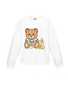 Moschino Kid-Teen Girls White Toy Cotton Anchor Sweatshirt