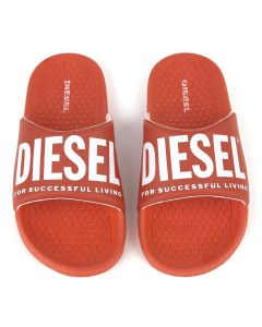 Diesel Teen Red Logo Sliders