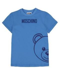 Moschino Kid-Teen Blue Side Toy T-Shirt