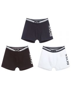 BOSS Boys Cotton Boxers (3 pack)