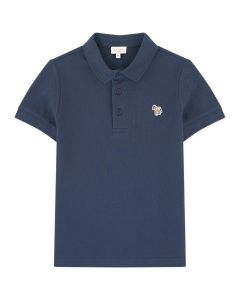 Paul Smith Junior Baby Boys Navy 'Ridley Per' Piqué Polo Shirt