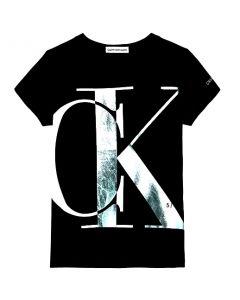 Calvin Klein Jeans Organic Cotton Logo Black T-Shirt