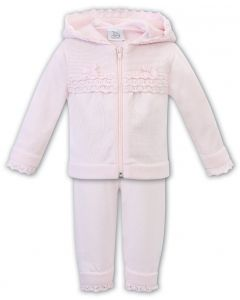 Sarah Louise 'Dani' Girls Pink  2 Piece Knitted Summer Tracksuit