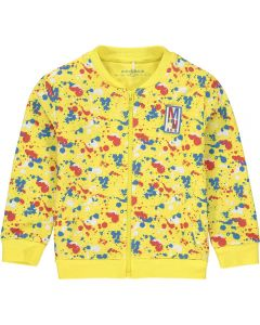 Mitch & Son Boys Paint Splatter Jersey Couper Zip Up Jacket