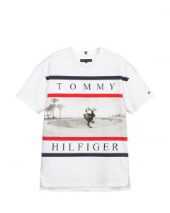 Tommy Hilfiger Teen Boys White Logo Skater T-Shirt