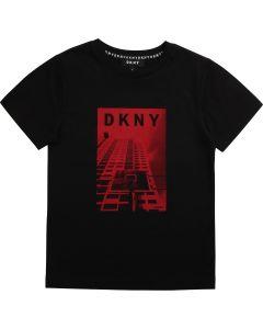 DKNY Black Cotton Basketball T-Shirt