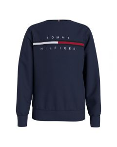 Tommy Hilfiger Boys Navy Blue Organic Cotton Sweatshirt